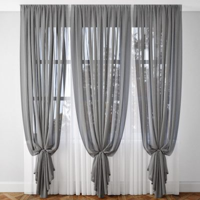 Curtain Gray 3D model