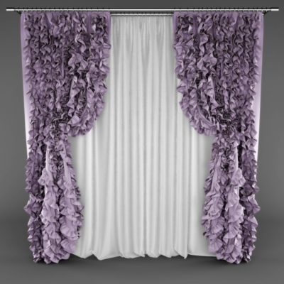 Frill Curtains 3D model