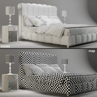 DV Home Collection Byron Letto Bed 3D Model