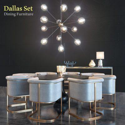 Dallas Table & Chair Set 3D Model