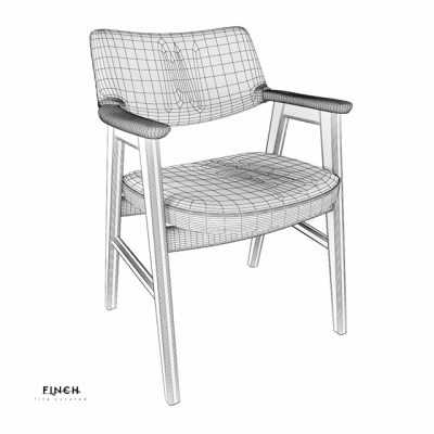 Danish Desk Chair 3D Model