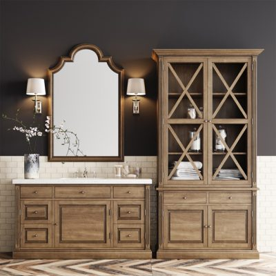 Dantone Bathroom Decorative Set 3D Model