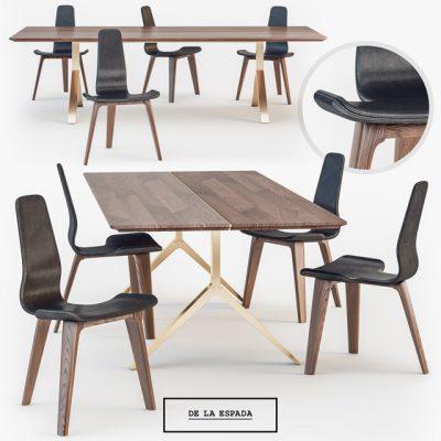 De La Espada Overton Table & Chair 3D Model