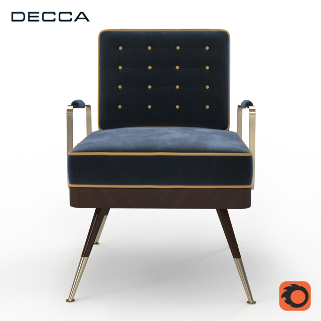 Decca Armchair 3D Model 2