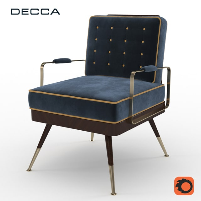 Decca Armchair 3D Model