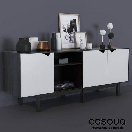 Decor Cosole Table 3D model 1