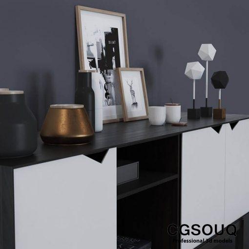 Decor Cosole Table 3D model 4