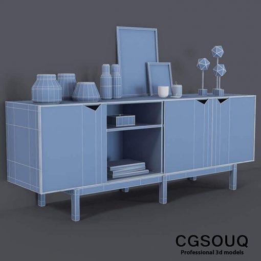 Decor Cosole Table 3D model 5