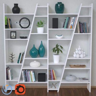 Delta Composition Shelving Unit Decor 3D model