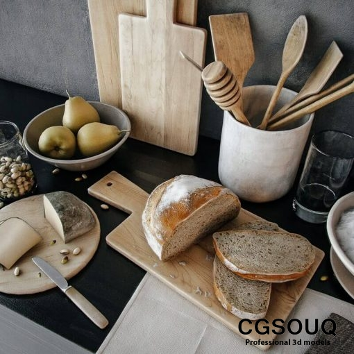 Decoration for kitchenware 3D model-2-CGSouq.com