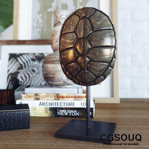 Decoration set Alocasia calidora 3D model 4