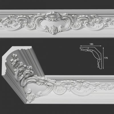 Decorative plaster 06 3d model