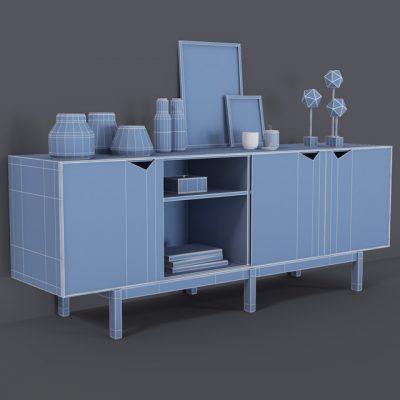 Decorative Set-08 3D Model 5