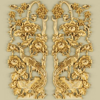 Decorative plaster 02 3D model