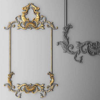 Boiserie molding frame 3D Models