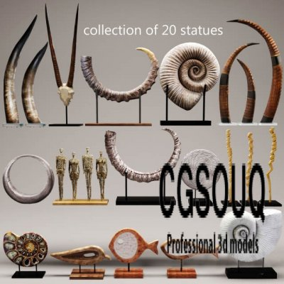 Decorative set 17 3D Model 01