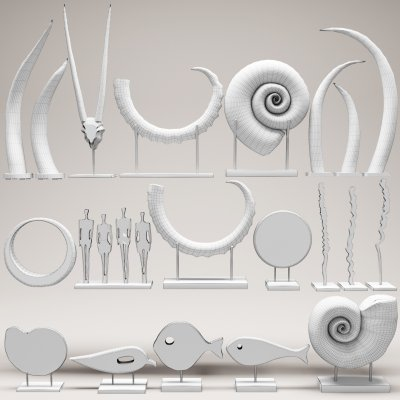 Decorative set 17 3D Model 02