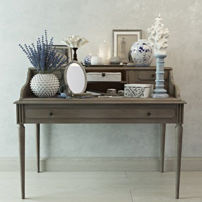 Decorative set Zara Home Console Table 3D Model 0