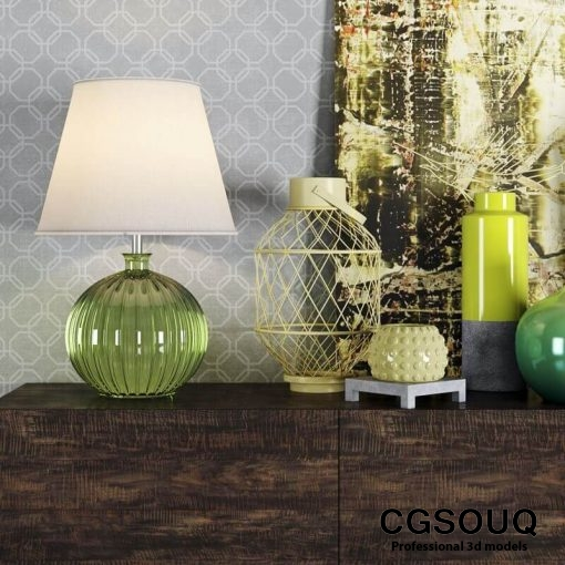 Decortive Set Vase 3D model 2
