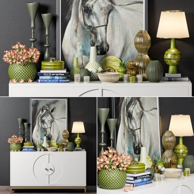 Decorative Console Table 4 3D Model