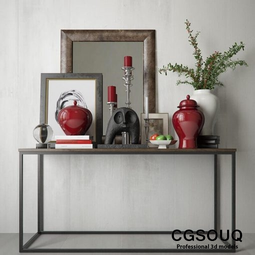 Decotative Console Table 6 3D Model 1