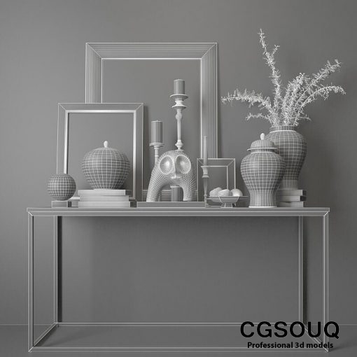 Decotative Console Table 6 3D Model 3
