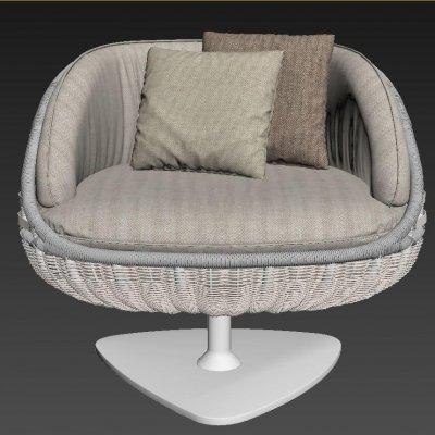 Dedon LOUNGE CHAIR 3D model (3)