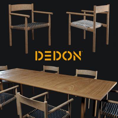 Dedon Tibbo – Table & Chair 3D Model