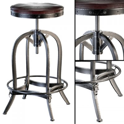 Dempsey Swivel Iron Bar Stool 3D Model