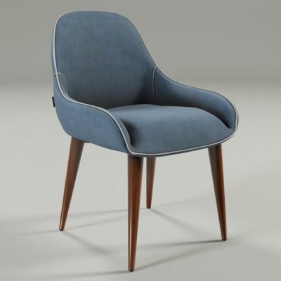 Deny Navy Chair 3D Model