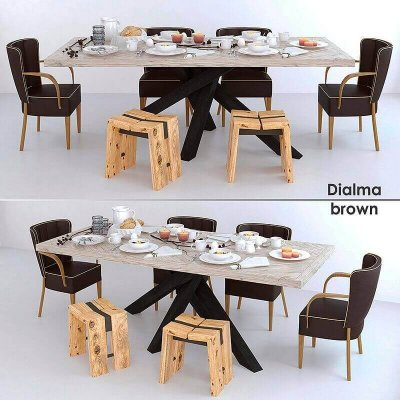 Dialma brown Furniture set 3D model