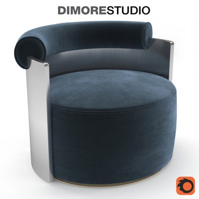 DimoreStudio Poltrona Armchair 3D Model