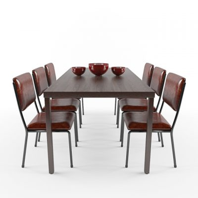 Dining Table & Chair 3D Model