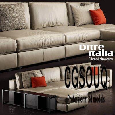Ditra Italia Divani Davvero Sofa 3D model (3)