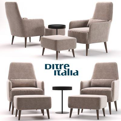Ditre Italia Armchair 3D Model