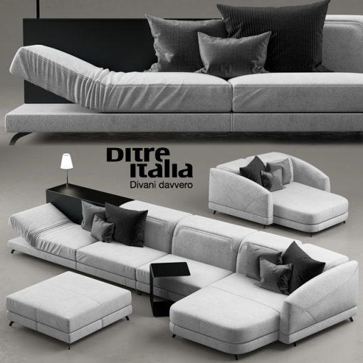 Ditre Italia Divani Davvero Sofa 3D Model