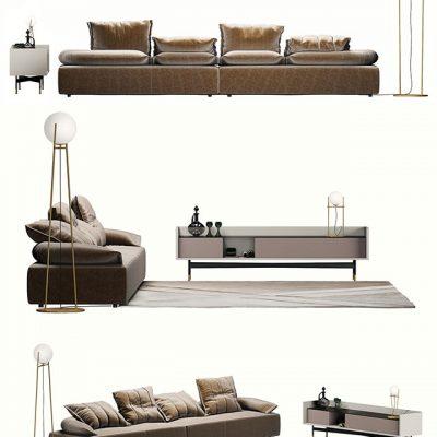 Ditre Italia Flick Flack Sofa 3D Model