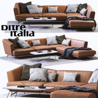 Ditre Italia Lennox Leather Sofa 3D Model