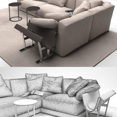 Ditre Italia Sanders Sofa 3D Model
