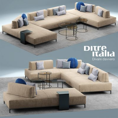 Ditre Italia Sanders Sofa Set 3D Model