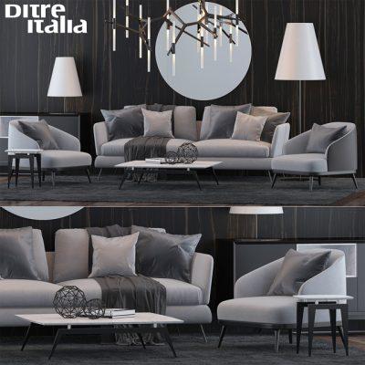 Ditre Italia Sofa Set-01 3D Model