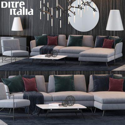 Ditre Italia Sofa Set-02 3D Model