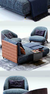Ditre Italia St Germain Day Bed 3D Model