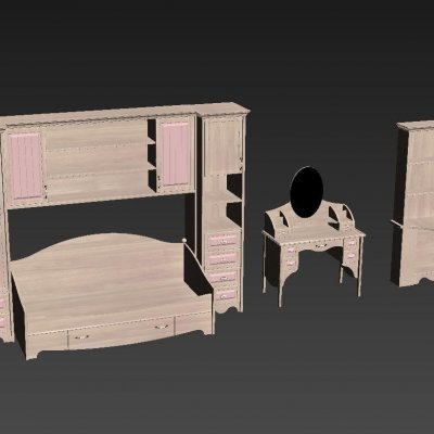 Diva Mebel - Nikol Furniture Set 3D model 2