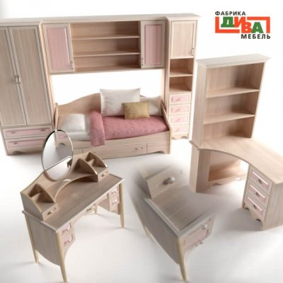 Diva Mebel - Nikol Furniture Set 3D model