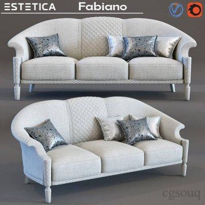 Divan Fabiano Sofa 3D Model