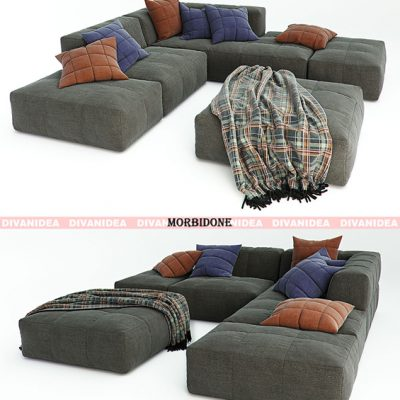 Divanidea Morbidone Sofa Set-02 3D Model