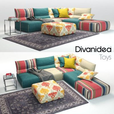 Divanidea Toys Sofa Set-02 3D Model