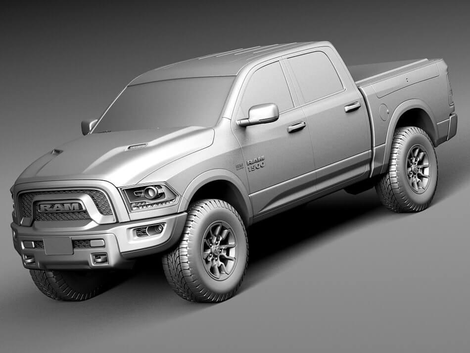 Dodge Ram Rebel 3D Model Preview 10