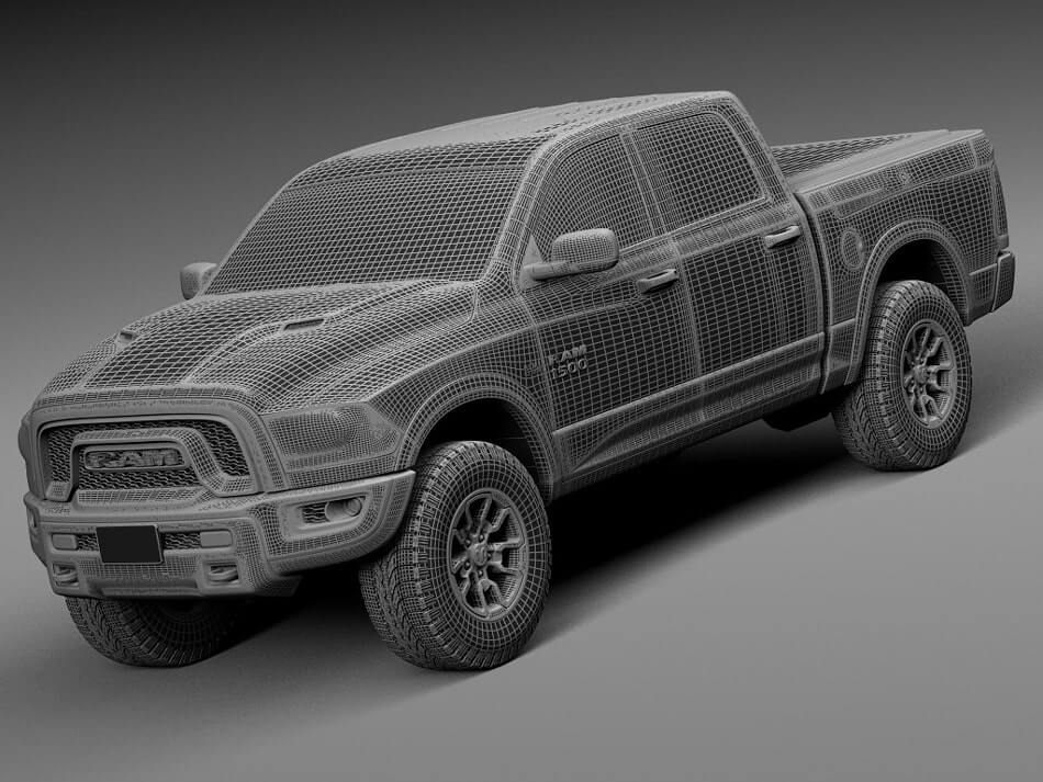 dodge ram rebel truck 3d model for download. Black Bedroom Furniture Sets. Home Design Ideas